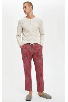 DeFacto Erkek Slim Fit Pijama Alt ve Üst Takım(125928073)