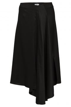 Drapey Satin Skirt Knielanges Kleid Schwarz FILIPPA K(108941581)