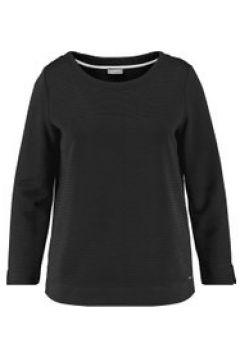 Langarmshirt aus Struktur-Jersey Samoon Black(120113512)