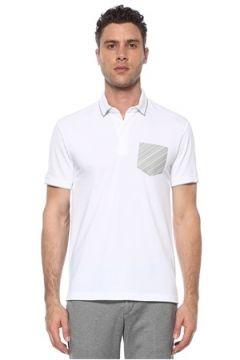 Network Erkek Slim Fit Beyaz Polo Yaka Baskılı T-shirt XXL EU(117653221)