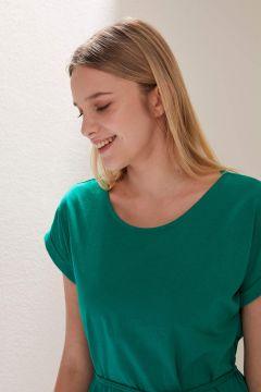 DeFacto Kadın Belden Bağlama Detaylı Örme Elbise(119062709)