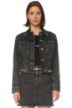 Stella McCartney Kadın Logo Siyah Crop Jean Ceket 42 IT(121208194)