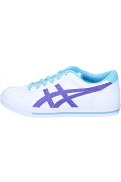 Chaussures Onitsuka Tiger sneakers blanc cuir pourpre AH829(115400541)