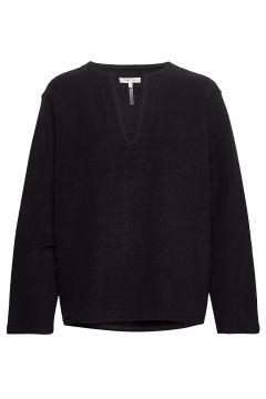 Reversed Split Sweatshirt Sweat-shirt Pullover Schwarz FILIPPA K SOFT SPORT(114559613)