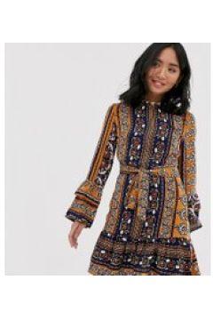 Parisian Petite - Vestito con stampa fantasia e cintura abbinata-Multicolore(120329794)