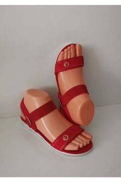ELİS Bayan Lastikli Sandalet Kırmızı Günlük Plaj Havuz(119320874)