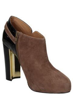 Boots Gaudi bottines beige daim noir cuir verni AD397(115408457)