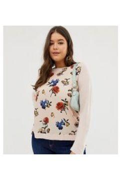 Oasis Curve - Top floreale a maniche lunghe-Multicolore(120358169)