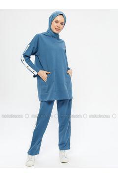 Indigo - Cotton - Crew neck - Tracksuit Set - Hatun Atila(110332296)