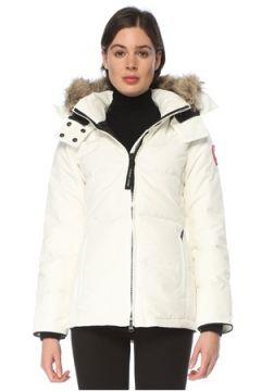 Canada Goose Kadın Chelsea Beyaz Kapüşonlu Mont S EU(126218084)
