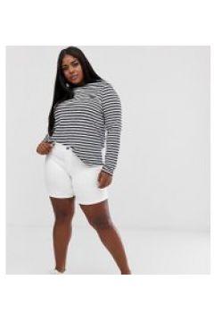 Junarose - Schmale Shorts mit aufgerolltem Umschlag - Weiß(95025840)