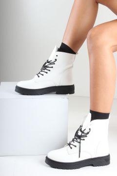 İnan Ayakkabı Beyaz Cilt Kadın Bot(105213492)