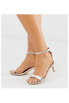 Glamorous Wide Fit - Sandalen mit Absatz in Silber verspiegelt - Silber(95030236)