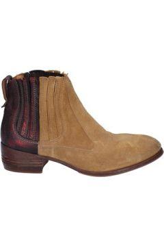 Boots Moma bottines beige daim bordeaux cuir BT18(115442719)