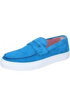 Chaussures Di Mella mocassins celeste daim AB997(115393892)