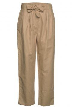 Selene Mw Trousers Hose Mit Geraden Beinen Beige SECOND FEMALE(114153932)