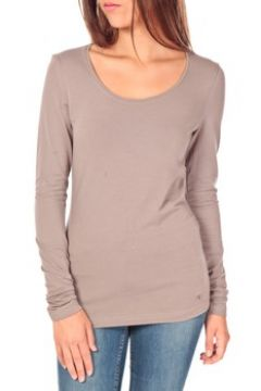 T-shirt Tom Tailor Lara Stretch Longsleeve Taupe(98734112)