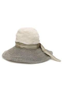 Inverni Kadın Gri Beyaz Garnili Bantlı Şapka Bej 56 EU(114438724)