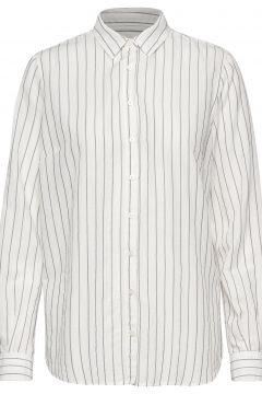 Kayla Fine Stripe Shirt Langärmliges Hemd Weiß MOS MOSH(108839144)