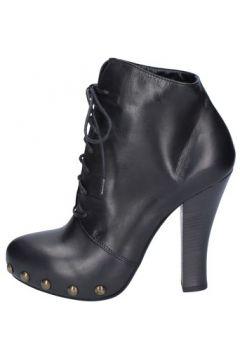 Bottines Vic bottines noir cuir AY141(115443253)