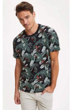 DeFacto Erkek Desenli Boxy Fit T-shirt(119061214)