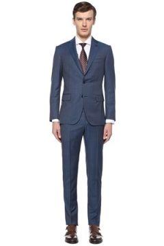 Pal Zileri Erkek Drop 7 Mavi Kelebek Yaka Çizgili Yün Takım Elbise 54 IT(108515944)