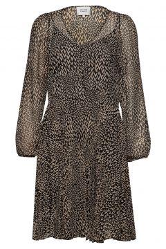 Real Ls Short Dress Kleid Knielang Bunt/gemustert SECOND FEMALE(108574010)