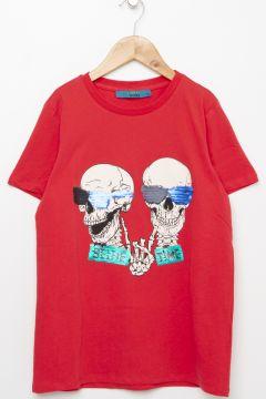 Funky Rocks Kırmızı T-Shirt(113994587)