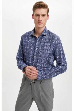 DeFacto Erkek Slim Fit Çiçek Desenli Gömlek(119062373)