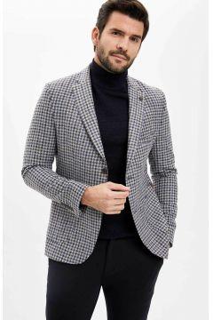 DeFacto Erkek Kareli Blazer Ceket(108987958)