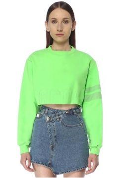 Gcds Kadın Neon Yeşil Crop Sweatshirt XS EU(113468150)