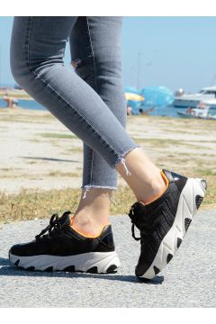 Chaussures De Sport Crash Noir / Orange(119070820)