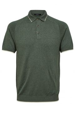 SELECTED Regular Fit Strick Poloshirt Herren Grün(114426907)