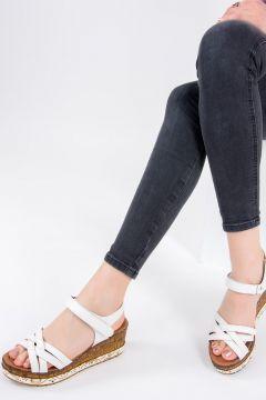 Fox Shoes Beyaz Kadın Sandalet(116989731)