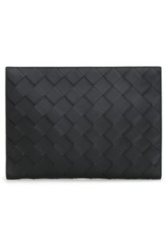 Bottega Veneta Erkek Siyah Örgü Dokulu Deri El Portföyü EU(118643050)