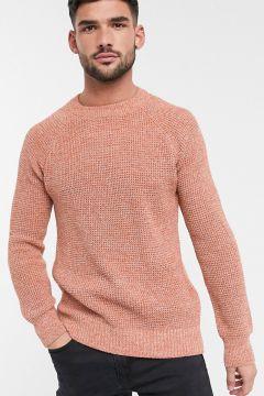 New Look – Orange tröja med raglanärm och dekorativ söm(113043332)