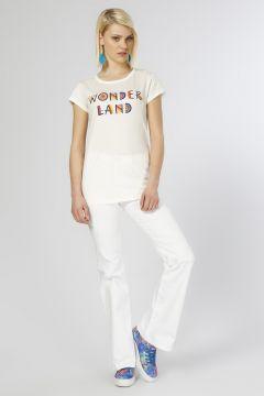 Ole İspanyol Paça Beyaz Pantolon(113959154)