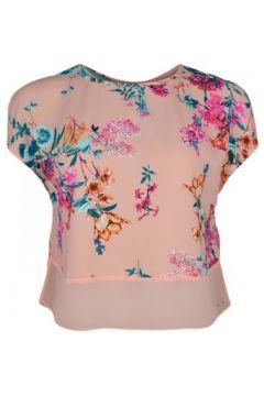 Blouses Tommy Jeans Haut corail à motif fleur pour femme(115399622)
