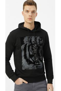 Fabrika Siyah Baskılı Sweatshirt(113995204)