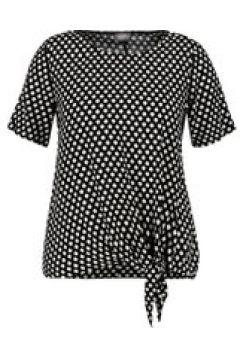 Blusenshirt mit Knoten-Detail Samoon Black gemustert(117063738)