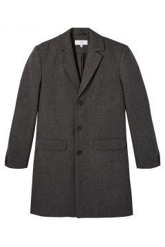 Abrigo recto de paño de lana(121617944)