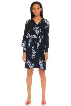 Penny Black-Penny Black Çiçek Desenli Lacivert Elbise(115706130)