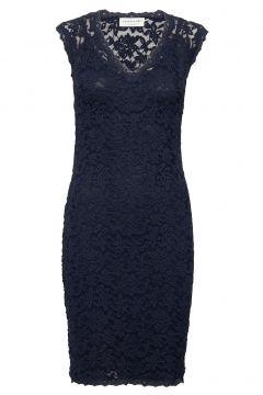Dress Ss Kleid Knielang Blau ROSEMUNDE(114165077)
