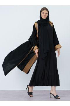 Abaya AL SHEIKHA Doré / Noir(125458824)
