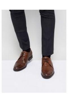 Jack & Jones - Hochwertige Derby-Schuhe aus braunem Leder - Braun(95028358)