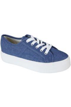 Chaussures Kebello Baskets en toile F Bleu(115573800)