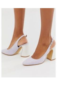 Co Wren - Schuhe mit Fersenriemen und abgerundetem Blockabsatz - Violett(86708931)