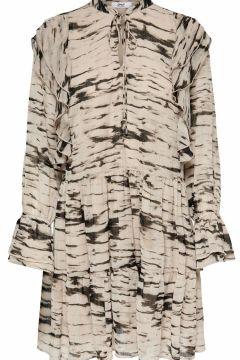 ONLY Print Rüschen Kleid Damen White(122983715)