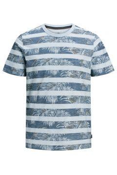 JACK & JONES Botanische Print T-shirt Heren Blauw(112257469)