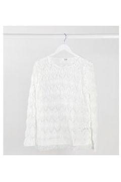 Simply Be - Maglione con frange bianco(120938117)
